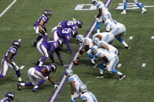 MINNEAPOLIS, MN - SEPTEMBER 20: The Detroit Lions offense lines up against the Minnesota Vikings defense during the game on August 20, 2015 at TCF Bank Stadium in Minneapolis, Minnesota. The Vikings defeated the Lions 26-16. (Photo by Hannah Foslien/Getty Images)